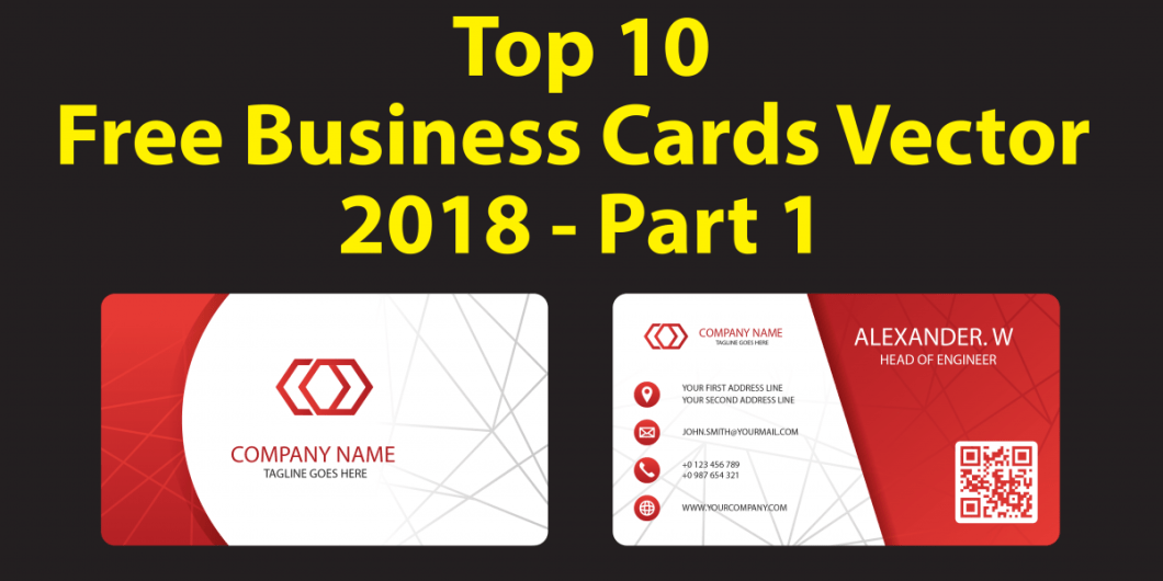 Top 10 Free Business Cards Vector 2018 - Part 1